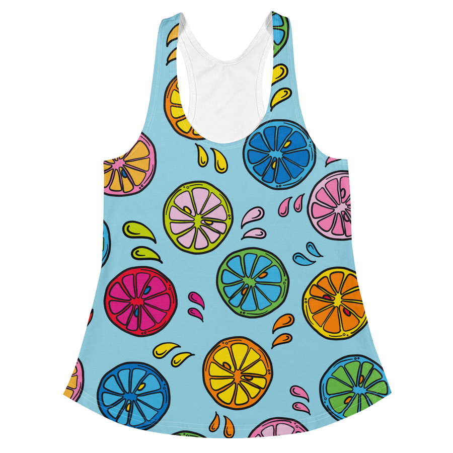 Image of Rainbow Citrus tank top