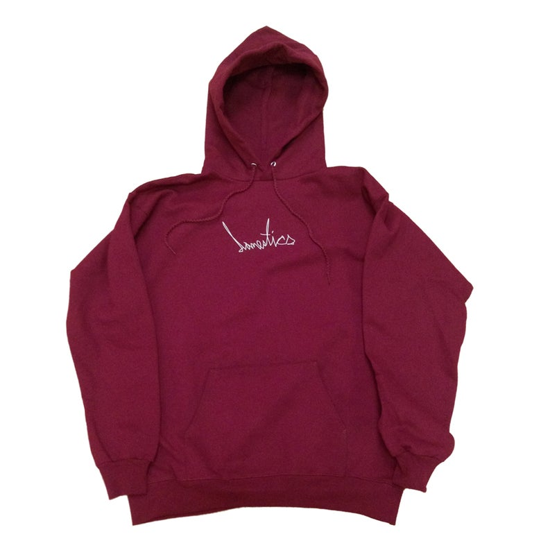 Image of DOMEstics. Scribble Hoody (Maroon)