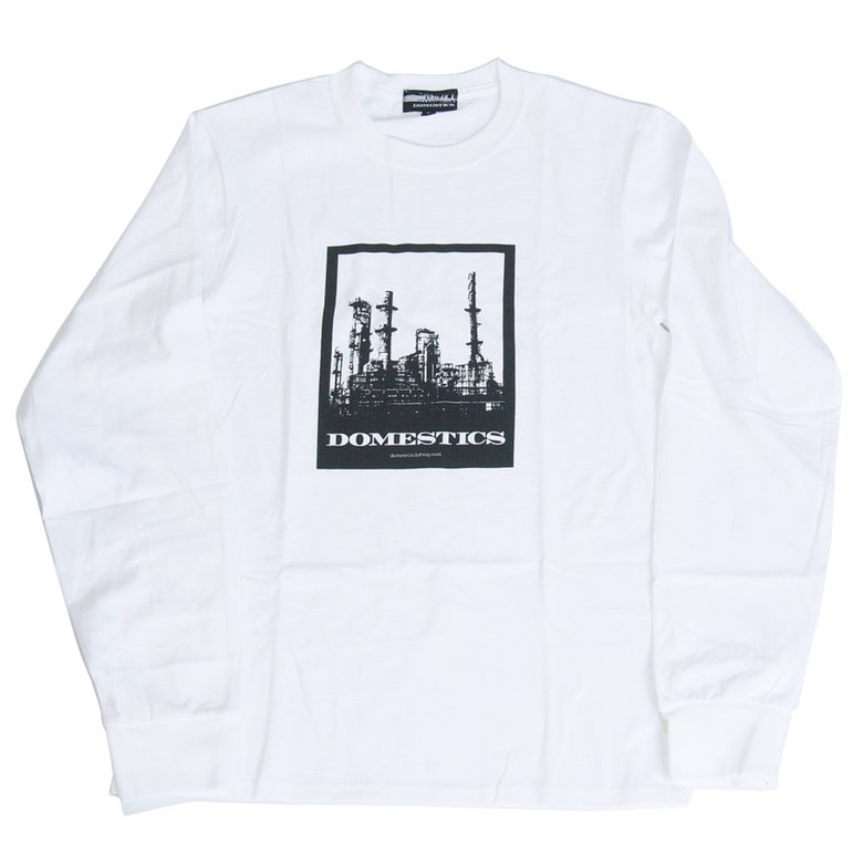 Image of DOMEstics. Factory Long Sleeve T-shirt (black print)