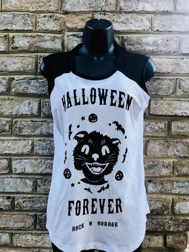 Image of Halloween Forever Women's Vintage Team Player Tee
