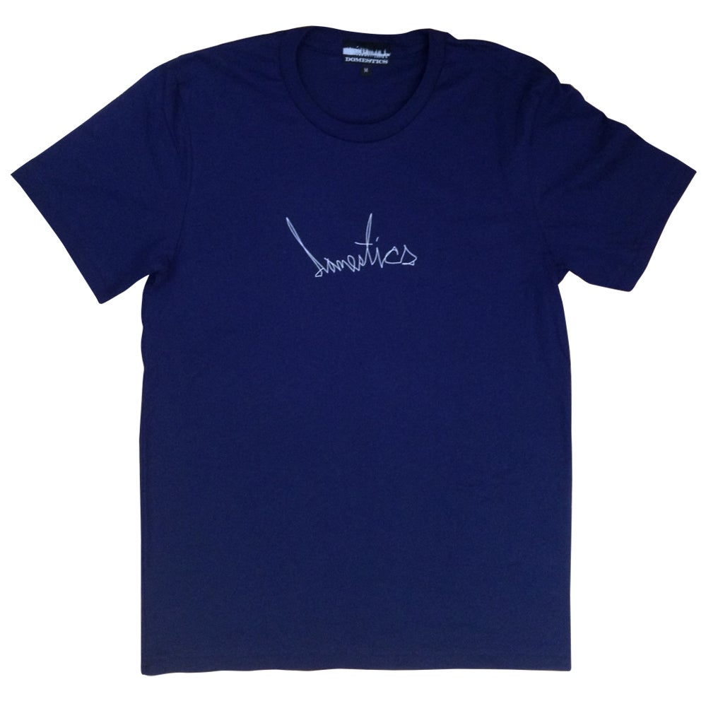 Image of DOMEstics. Scribble T-shirt (navy)