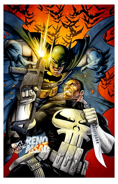 Image of Batman vs Punisher (No Title)