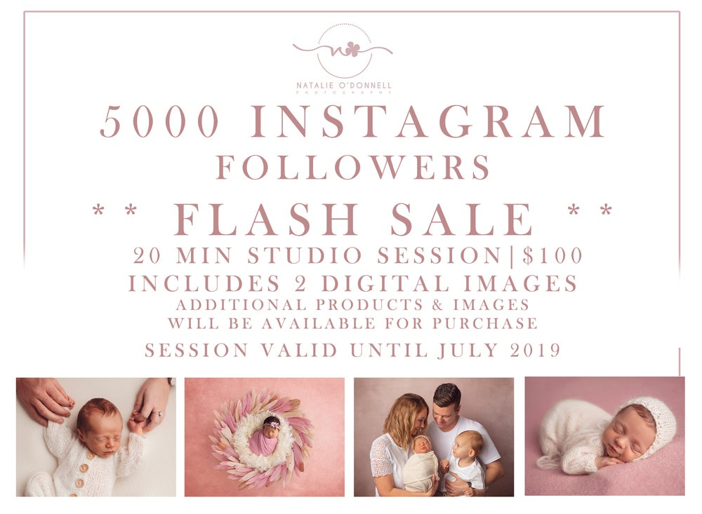 Image of 5000 IG Followers STUDIO FLASH SALE