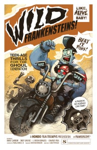 "Image of ""WILD FRANKENSTEINS!"" signed poster"