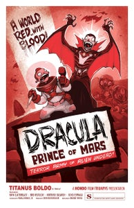 "Image of ""DRACULA: PRINCE OF MARS"" signed poster"