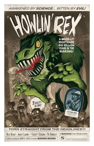 "Image of ""HOWLIN' REX"" signed poster"