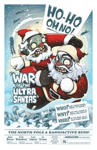 "Image of ""WAR OF THE ULTRA SANTAS"" signed print"