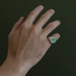 Image of Green Jade signet ring