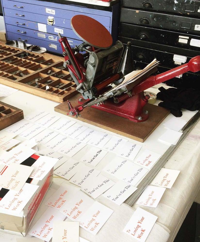 Image of Letterpress table top printing workshop 11am - 5pm Sat.15th June 2019