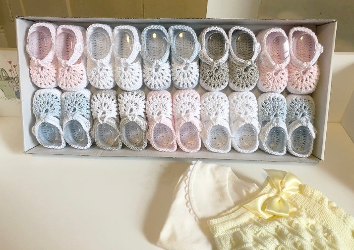 Image of Baby knitted t-bar shoes