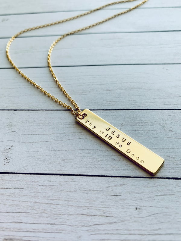 Image of Gold Vertical Bar Necklace