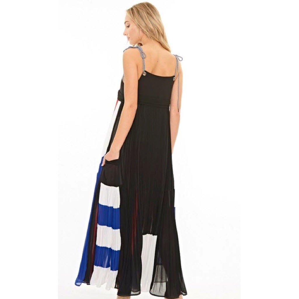 Image of Victoria Pleated Maxi Dress