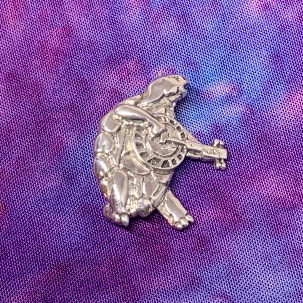 Image of Terrapin Pin Cast in Sterling Silver