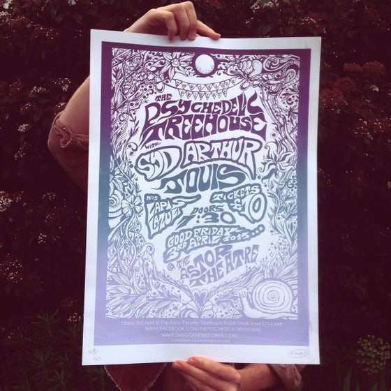 Image of Psychedelic Treehouse Screen Print
