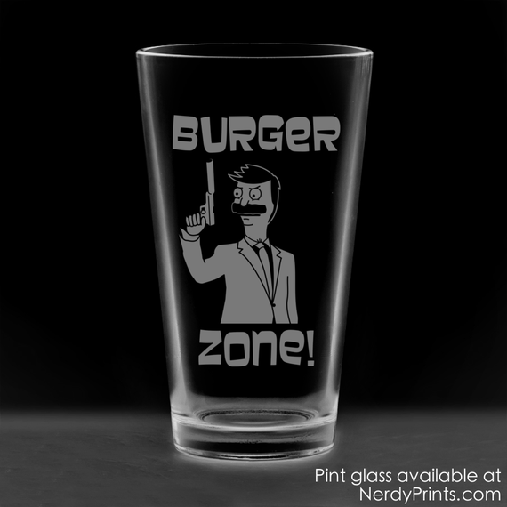 Image of Burger Zone Crossover Pint Glass