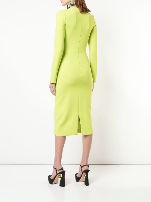 Image of Asymmetric Neck Dress