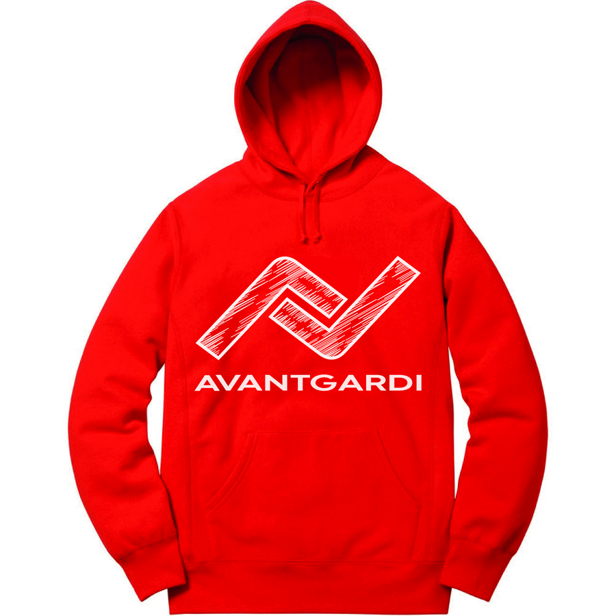 Image of Red Scribble Hoodie