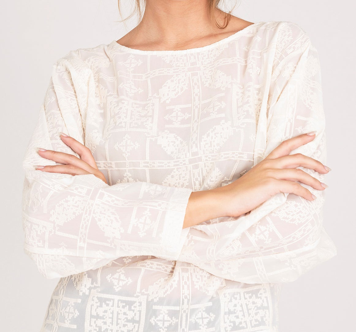 Image of Blouse brodée HONORINE