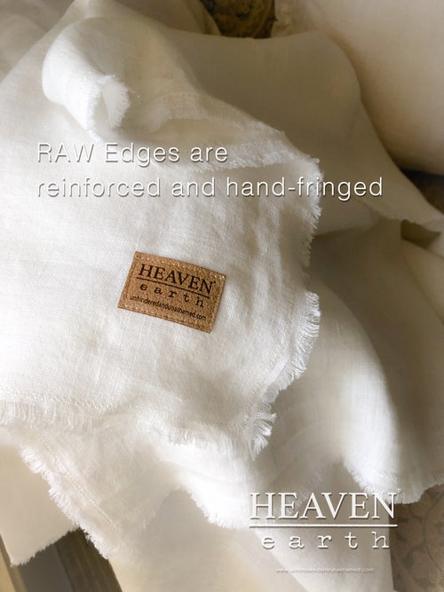 """Image of """"HEAVEN on earth"""" - 100% Linen Prayer Shawls, Mantels and Throws"""