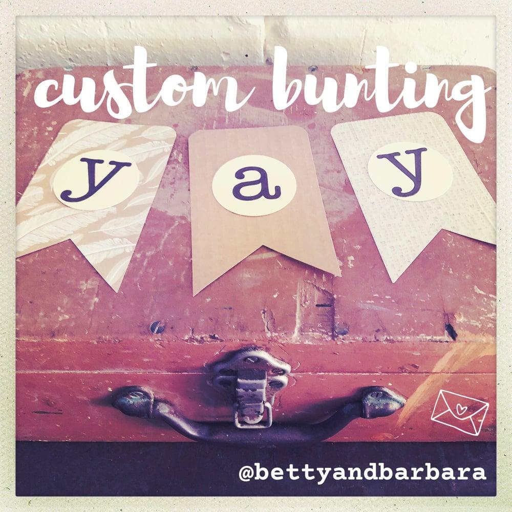 Image of custom bunting