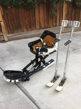 Image of Yeti Mono-Ski or Sit Ski with Stand Up Outriggers For Special Needs
