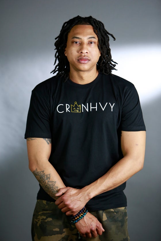 Image of CRWNHVY Tee (Black)