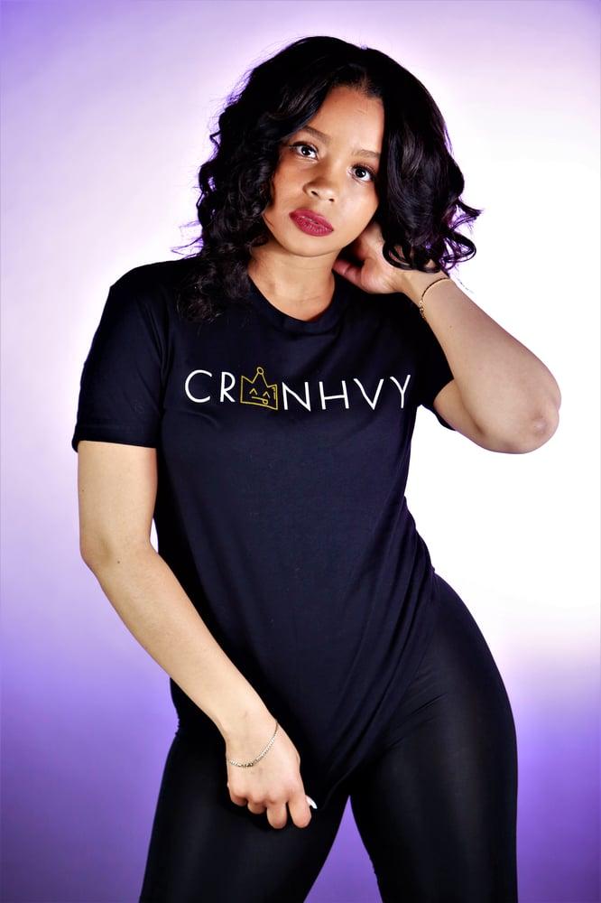 Image of CRWNHVY Tee (Black)