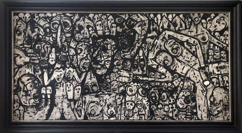 Image of Shawn Crahan (Clown Slipknot) GIANT original painting
