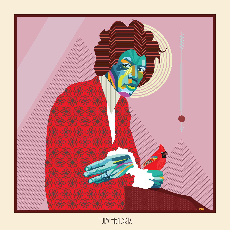 Image of Jimi Hendrix Poster