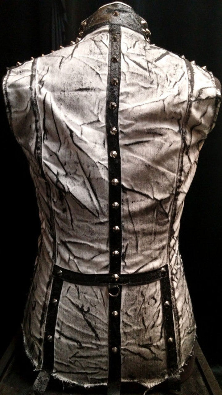 Image of Studded Stone Washed Punk Vest