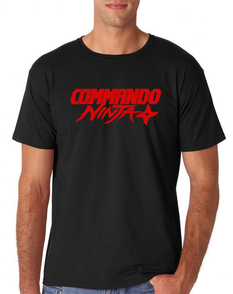 Image of Commando Ninja Black Tee Shirt