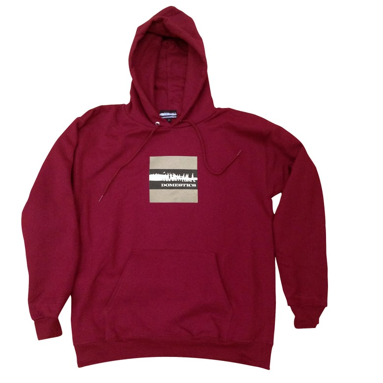 Image of DOMEstics.  Soldiers BlocK Hoody (Maroon)