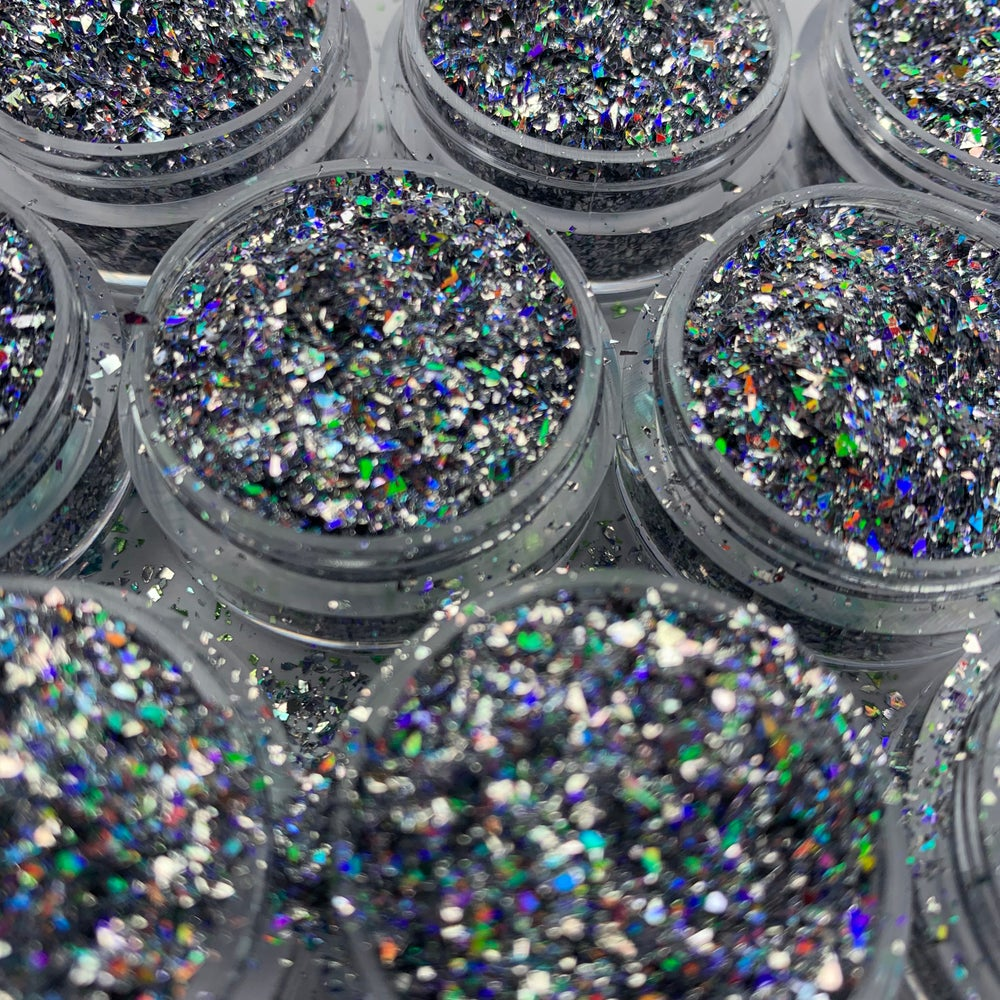 Image of Silver Tears Glitter Flakes