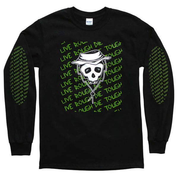 "Image of Black ""Booney Skull"" Long Sleeve"