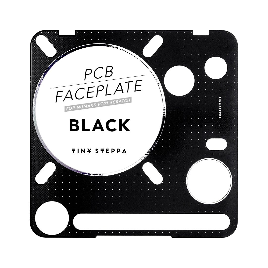 Image of PCB FACEPLATE FOR NUMARK PT01 SCRATCH - BLACK