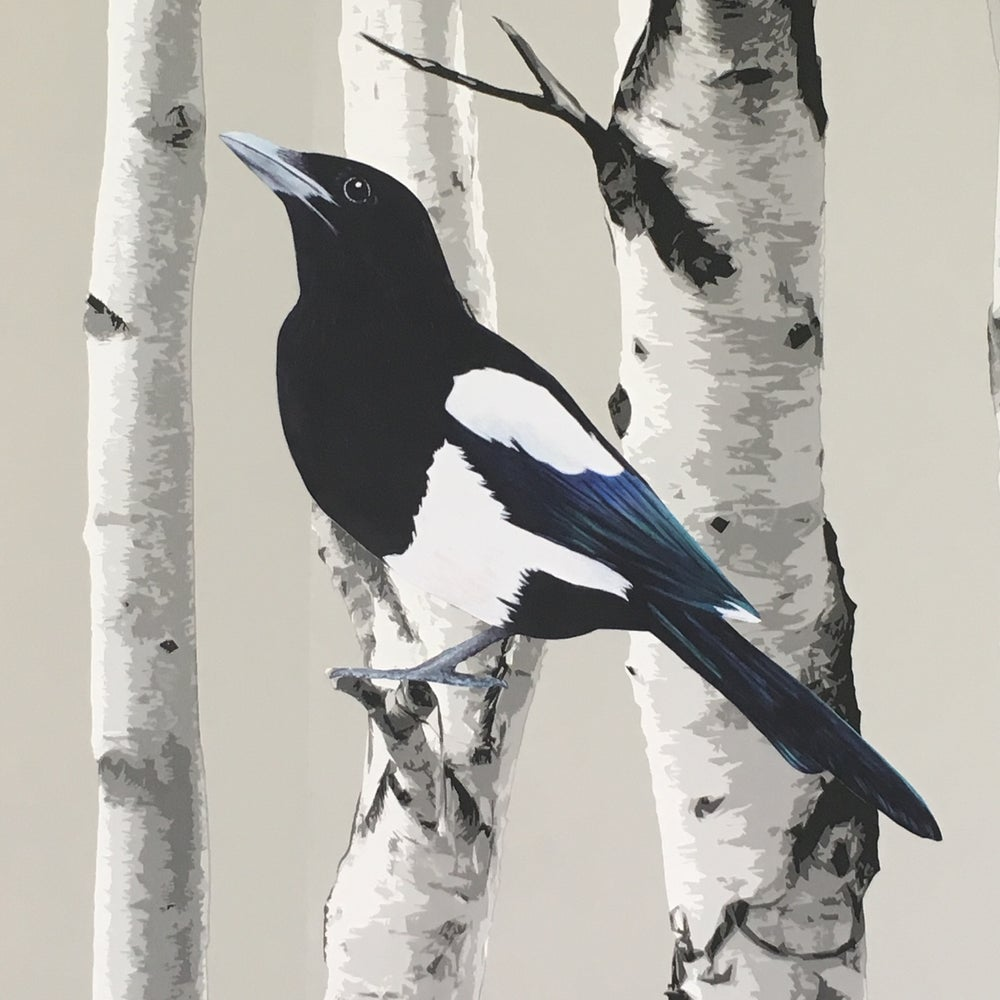Image of Morwenna Magpie ~ Wall decal