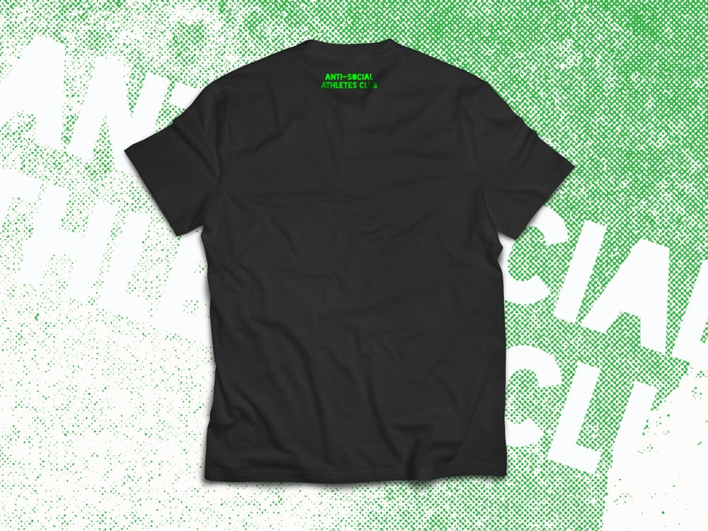 Image of F#ck THRUSTERS Tee BLK/FLURO GREEN