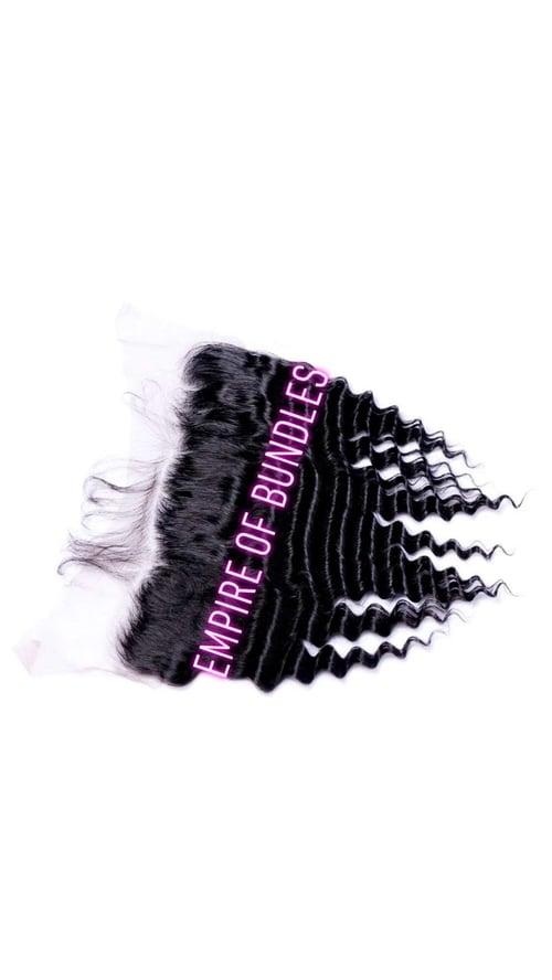Image of Three bundle deal + frontal Brazilian hair