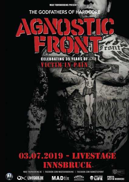 Image of Agnostic Front - 35 Years of Victim in Pain  - presented by ART.ill-ery Productions