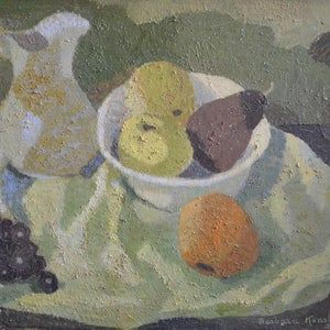 Image of 1950, Still Life, 'Jug and Fruit,' Barbara Konstan