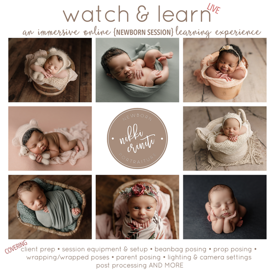 Image of Watch & Learn {ONLINE WORKSHOP & MENTORING} in Newborn Portraiture