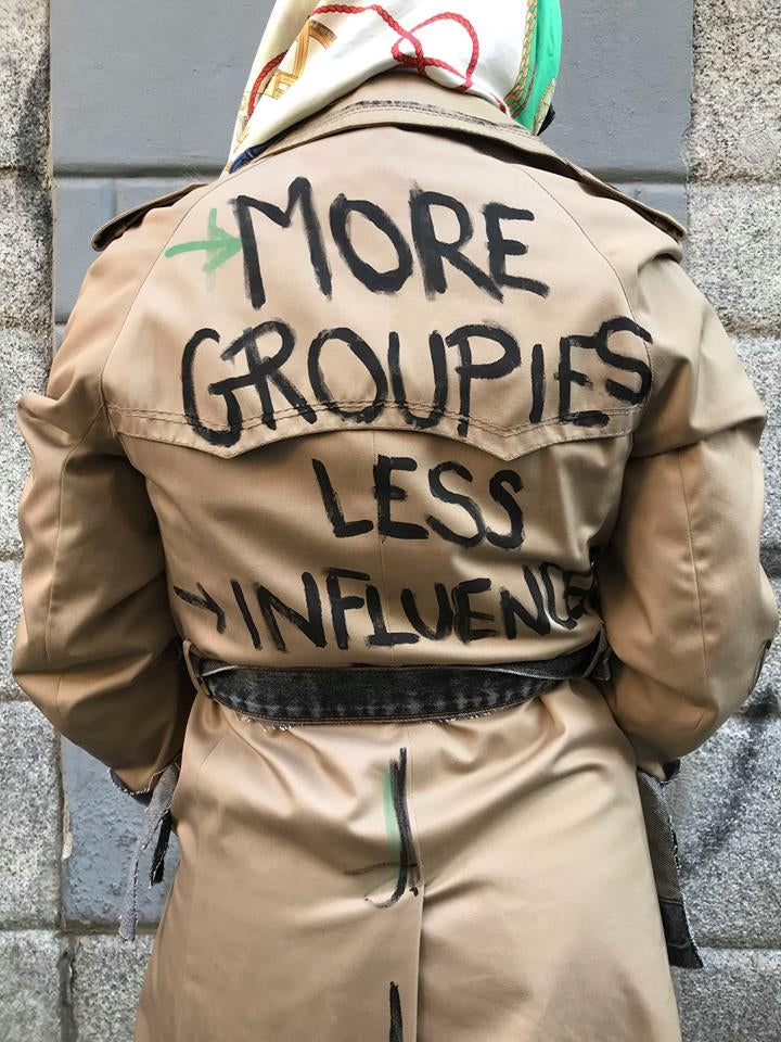 Image of MORE GROUPIES LESS INFLUENCER TRENCH