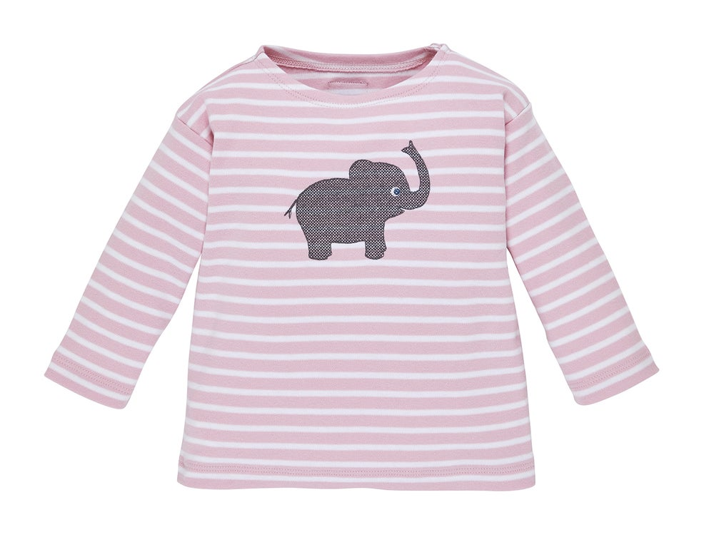 Image of SALE T-Shirt rosa gestreift mit Elefant Art. 207237