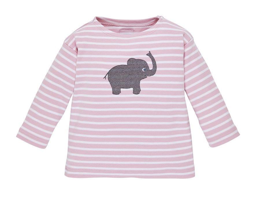 Image of NEUT-Shirt rosa gestreift mit Elefant Art. 207237
