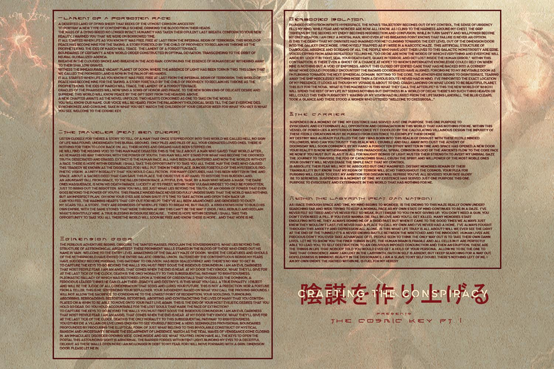 Image of The Cosmic Key Pt. 1 Lyric Poster