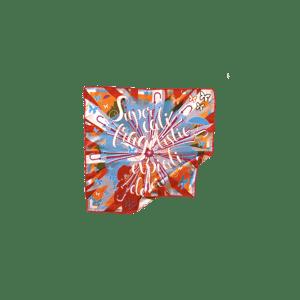 """Image of Twist en soie """"Popilistique"""" 30/30cm"""