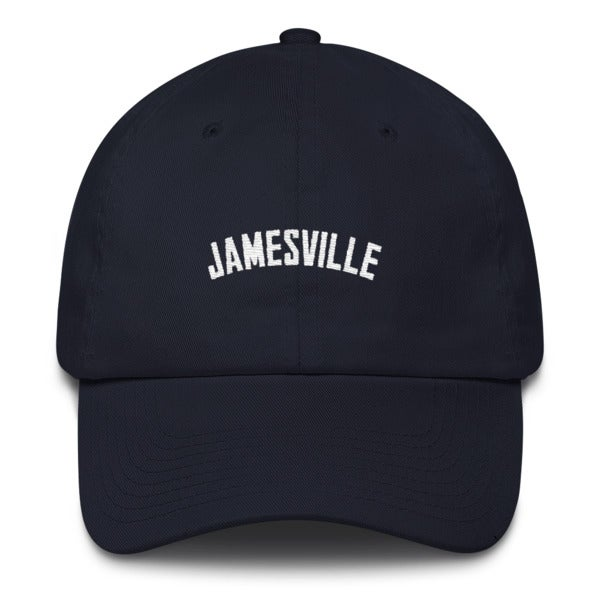 "Image of ""Jamesville"" Dad Hat- Navy"