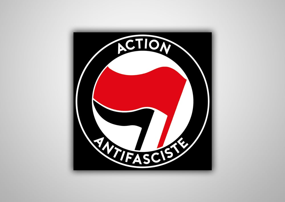 "Image of 100 Autocollants ""Action Antifasciste"" (drapeau rouge)"