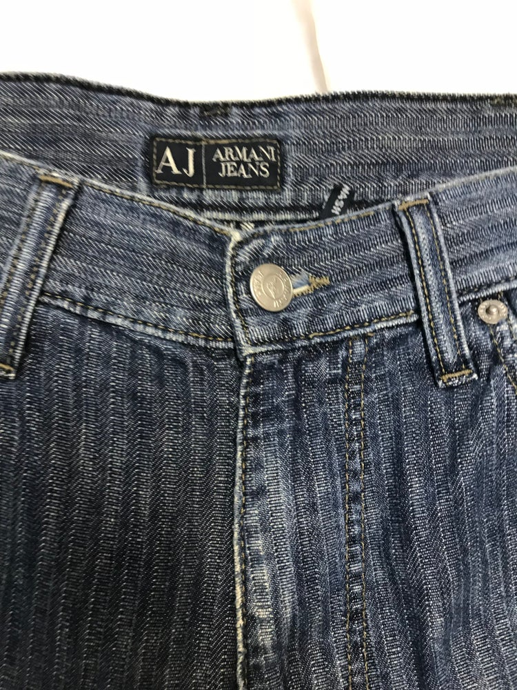 Image of AJ/Armani Mens Jeans with Frayed Hems