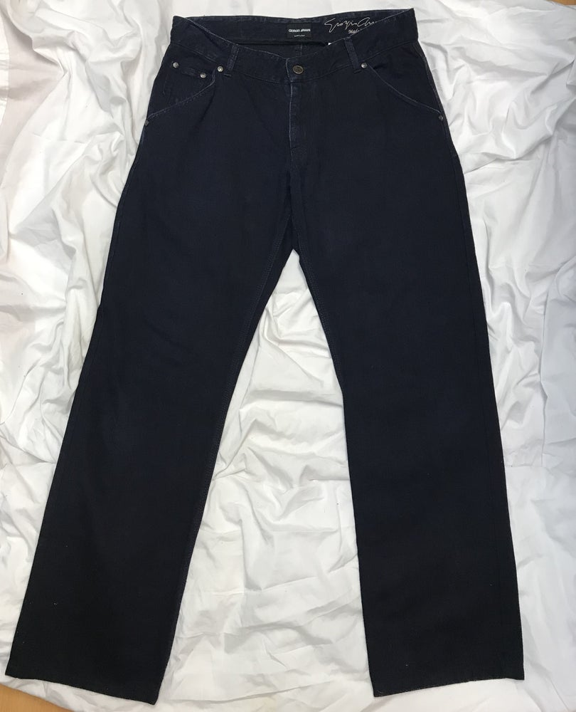 Image of Giorgio Armani Dark Denim Men's Jeans